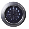 9inch Unique Decorative Metal Home Use Digital Movement Quartz Moon Phase Clock