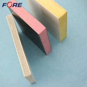 Polyurethane Foam Refrigerated Truck Insulated GRP FRP Panel, Insulation RV Side Fiberglass Honeycomb Sandwich Panel For Trailer