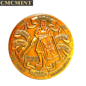 Coin challenge antiqu 40mm The Whole Armor of God Challenger Round with best quality