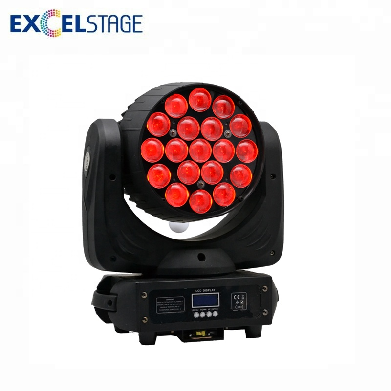 Custom retro stage 조명 19*12 w rgbw led wash 빛 moving head 스포트라이트