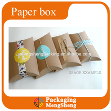 kraft paper pillow boxes accept custom order
