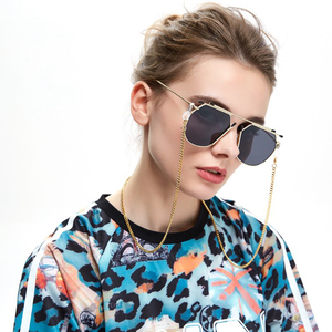 LOYALTY GL096 Simple Gold Sunglasses Eye Glass Chain Eyewear Accessories For Women