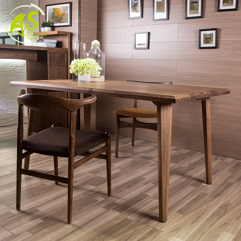 Rectangle Dining Table With Bench: Aisonhome Import Solid Wood Eat Chair Modern Simple
