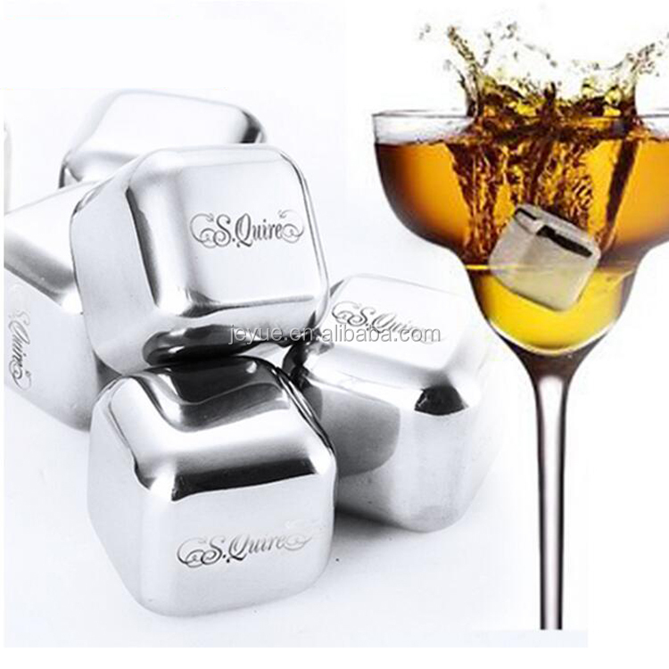 Ice Cube, Whiskey Stone, Stainless Steel Whiskey Chilling Rocks with pouch
