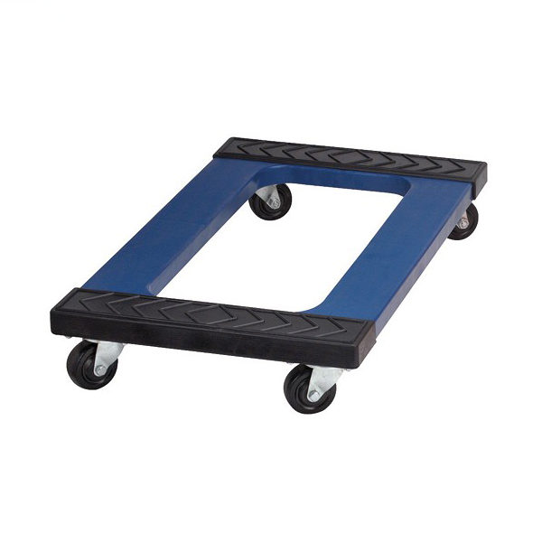 Heavy duty dolly mover's, vier wielen kunststof dolly, polypropyleen dolly