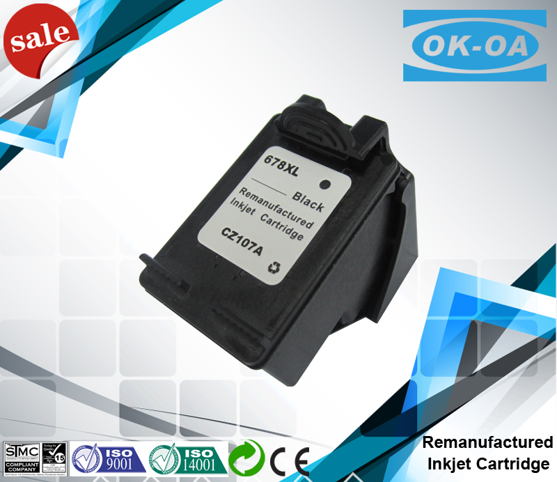 No cartridge no life printer ink cartridge for hp 678 inkjet cartridge