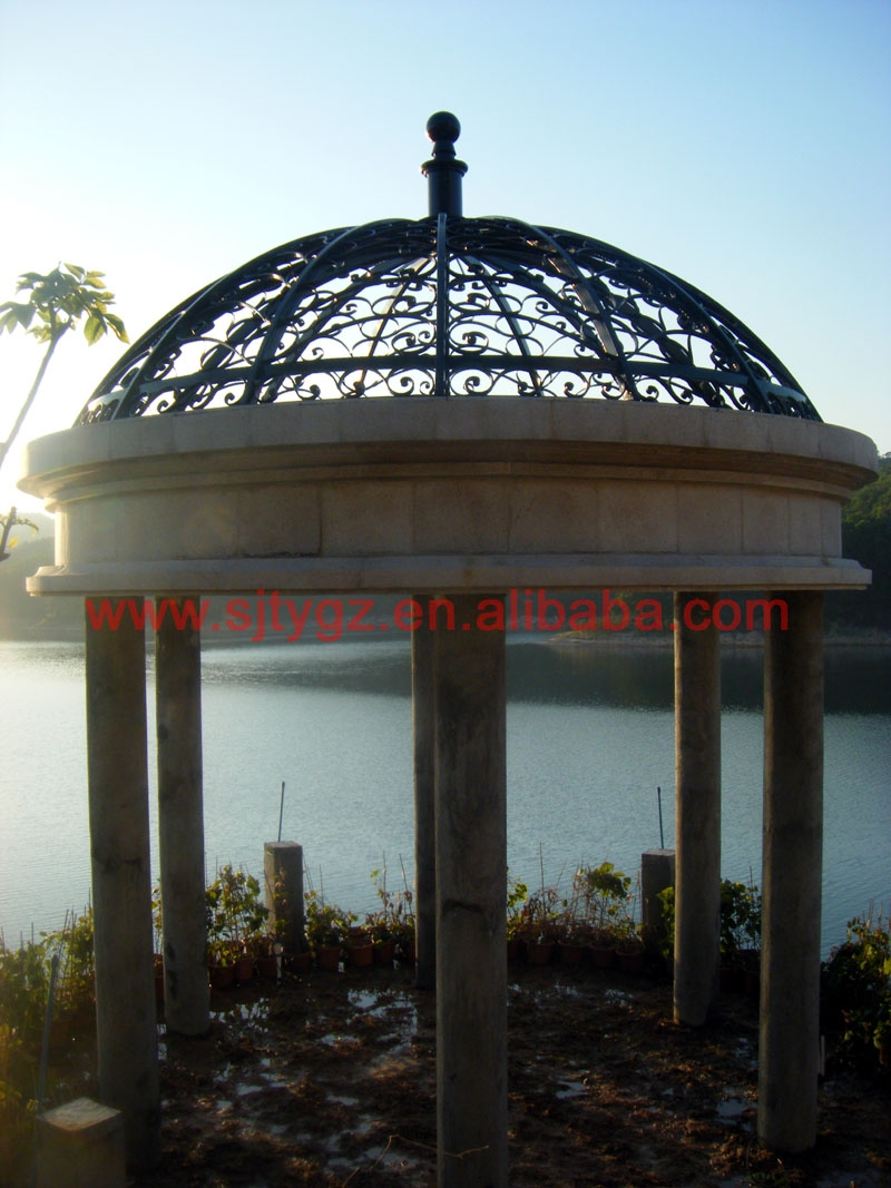 Ornamental Wrought Iron Exterior Canopy Iron Awning