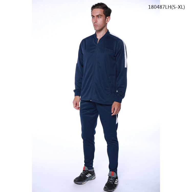 Silonprince sublimation all dark blue football training tracksuit for mens