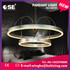 Factory price aluminium double ring modern LED chandelier