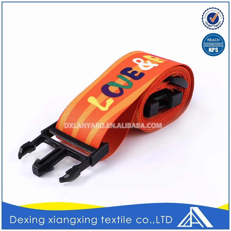 Design Heat Transfer Printing Customize High Quality Luggage Strap With Handle