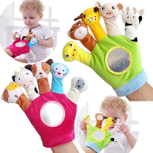Finger Puppets Plush Toys Baby Educational Cartoon Animal Toys