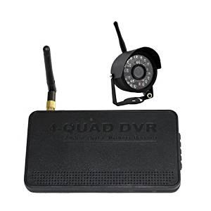 Security CCTV Digital Wireless Night Vision Camera with 4CH Quad DVR System