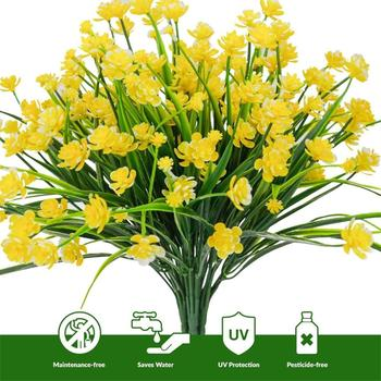 Artificial flowers yellow daffodils outdoor greenery shrubs plants artificial flowers yellow daffodils outdoor greenery shrubs plants plastic bushes window box uv resistant 4 branches mightylinksfo