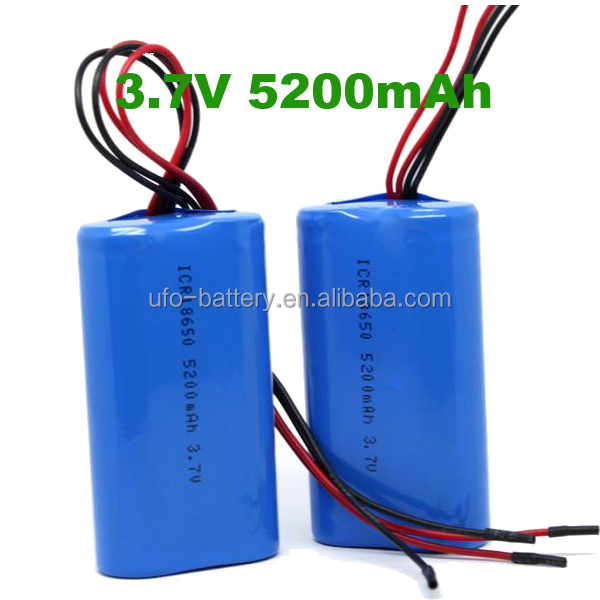 Li-ion Battery 5v 7.4V 5200mAh With Panasonic 18650 2600mAh Lithium Rechargeable Battery For Medical Devices