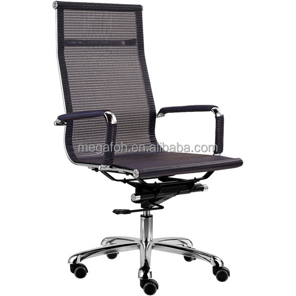 Nigeria executive office furniture wire mesh swivel multi-position reclining chair with wheels (FOH-F12-A2)