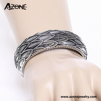 Azone punk gothic style 316L stainless steel bangle jewellery
