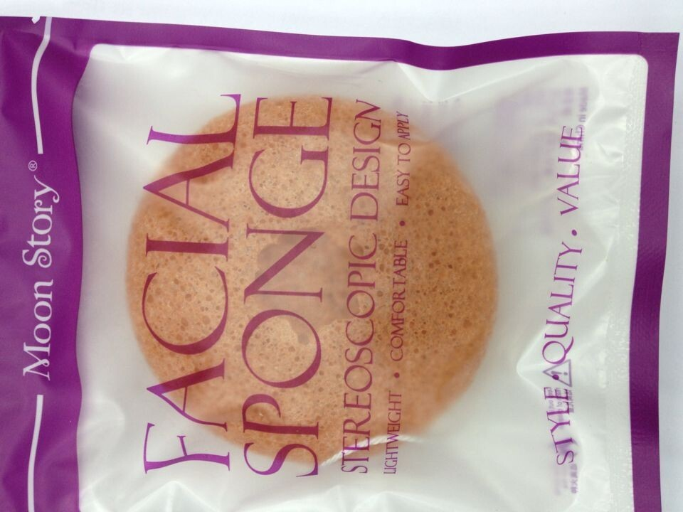 2016 newest fashinal 100% natural Konjac cleaning sponge