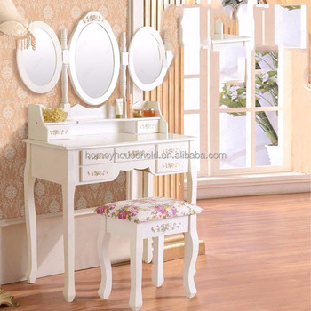 Used Bedroom Furniture Vanity Dressing Table With Lighted Mirror Makeup