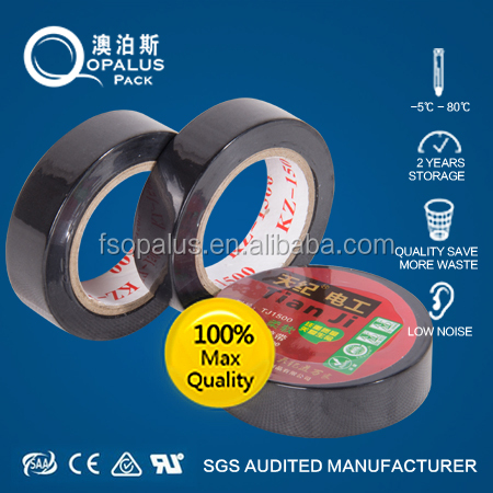 Fireproof PVC wire harness insulation tappe with pure glue