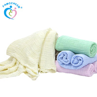 Hot Selling 3 Layer Wholesale Bamboo Muslin Baby Swaddle Blanket Small Bath Towel