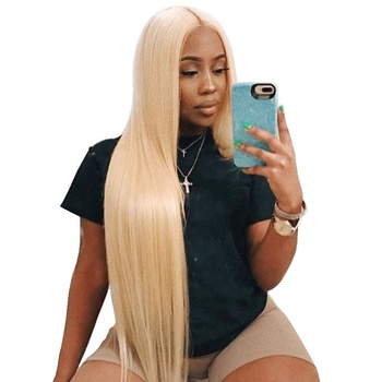 cheap raw human 613 virgin russian blonde human hair bundles with frontal,613 human hair weave extensions blonde