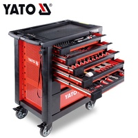 YATO Hot Sale High Quality Steel Auto Repair Tool Cabinet 211 Pcs Tools Tool Trolley YT-55290