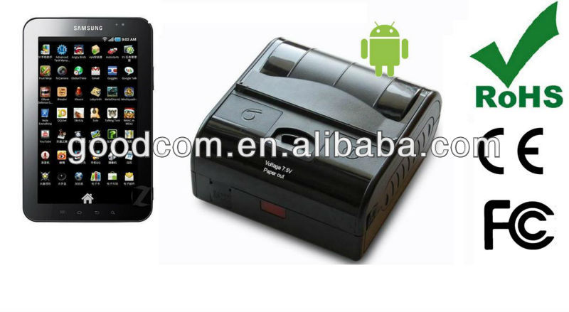 Free SDK Provided Barcode Printer for Samsung Galaxy Tab with Android 4.1 via Bluetooth