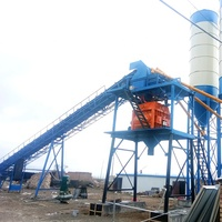 HZS25 High Performance Concrete Batching Plants Fixed Ready Mixed Cement Mixer