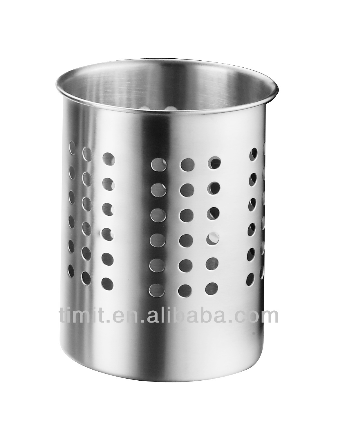 Stainless Steel Cutlery Holder Round Chopstick Container Fork With Hole Utensil
