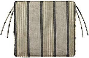 "Box edge Rectangular Outdoor Chair Cushion, 3""Hx18.5""Wx15.5""D, PEBBLE SUNBRELLA"