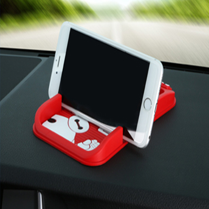 Silicone Custom Phone Holder, Rubber Non Slip Car Mat, Hot Selling Eco-Friendly Sticky Soft PVC Pad