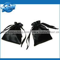 Exquisite drawstring satin gift pouch for jewelry company