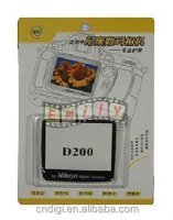 Quality High Clear Camera Optical Glass Screen Protector for D200 cameras