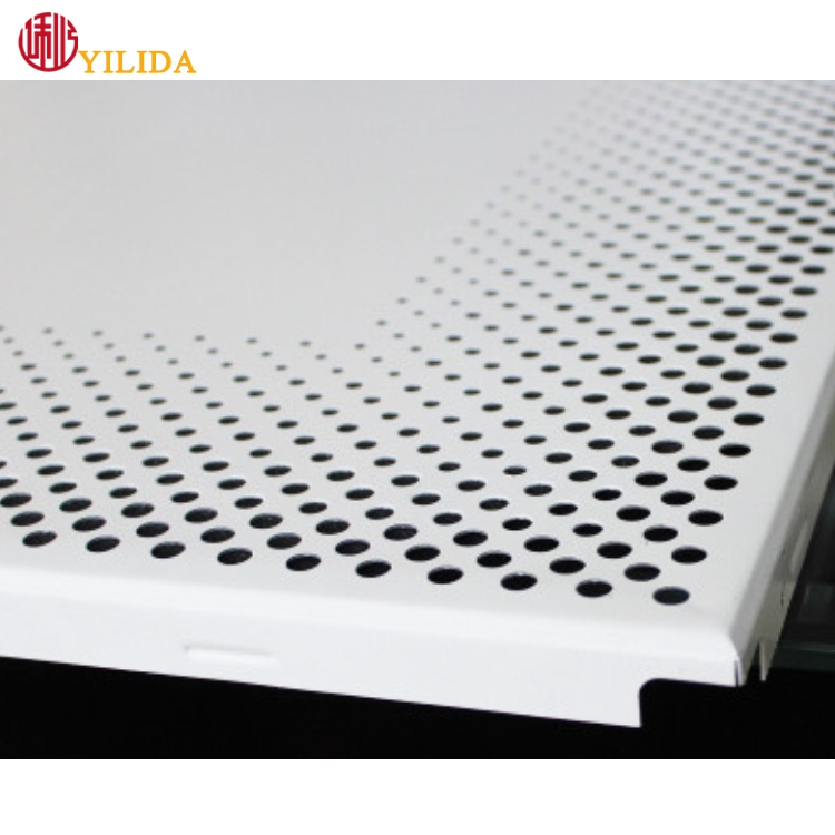 indoor ceiling small hole aluminum perforated metal sheet steel stretching net for decoration