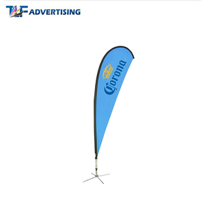 Outdoor promotional graphic print coffee found bow banners spoon teardrop flag