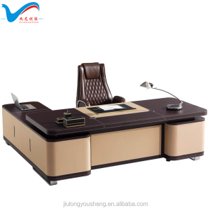 royal luxury office furniture leather table F62 Modern office furniture executive foshan China