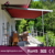 Outdoor acrylic sunshade awning