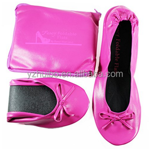 Fold up ballet Folding Flats Cream Portable Travel Weddings Bridal Parties shoes.