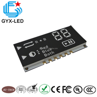 china leds manufacturers Rohs compliant blue color custom design SMD type segment LED display module for blu-ray player