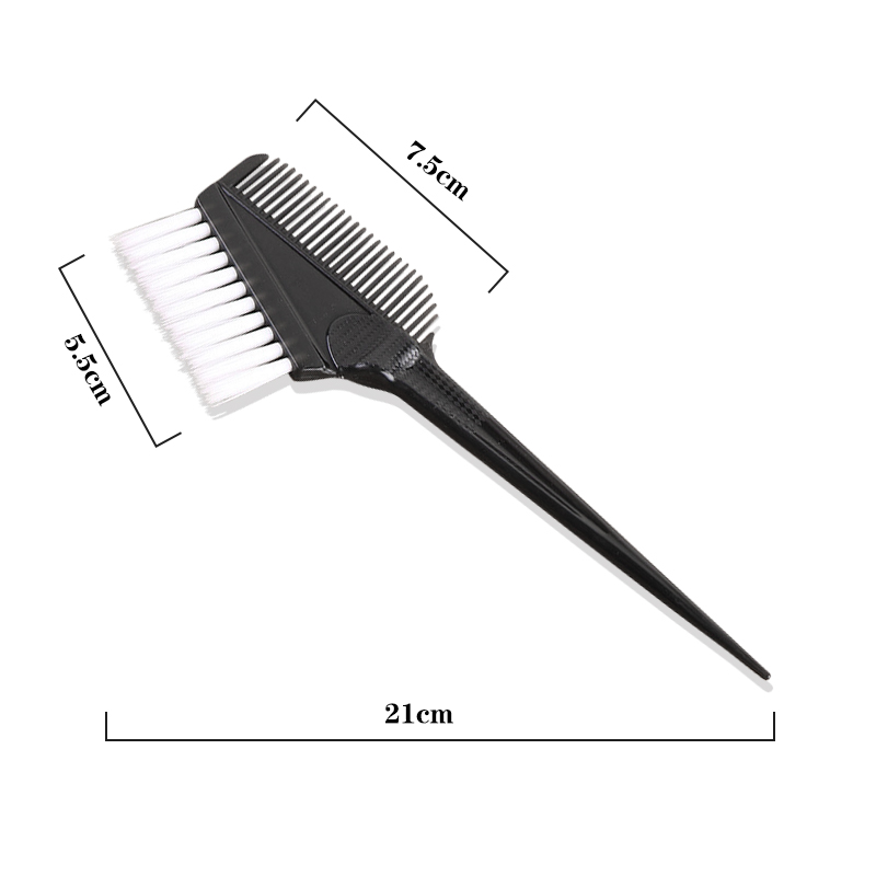 High quality Black Plastic Double Sided Hair  Comb brush for Hair Salon