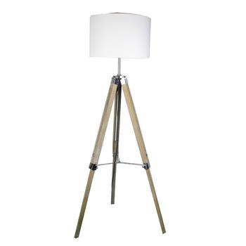 Nordic Vintage Led Wood 3 Legs Tripod Floor Lamp Standing Light