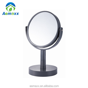 Double sides cosmetic mirror round desktop makeup stand mirrors with ABS frame