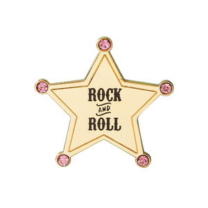 Gold plated lapel pin star shape with diamond wholesale custom badge