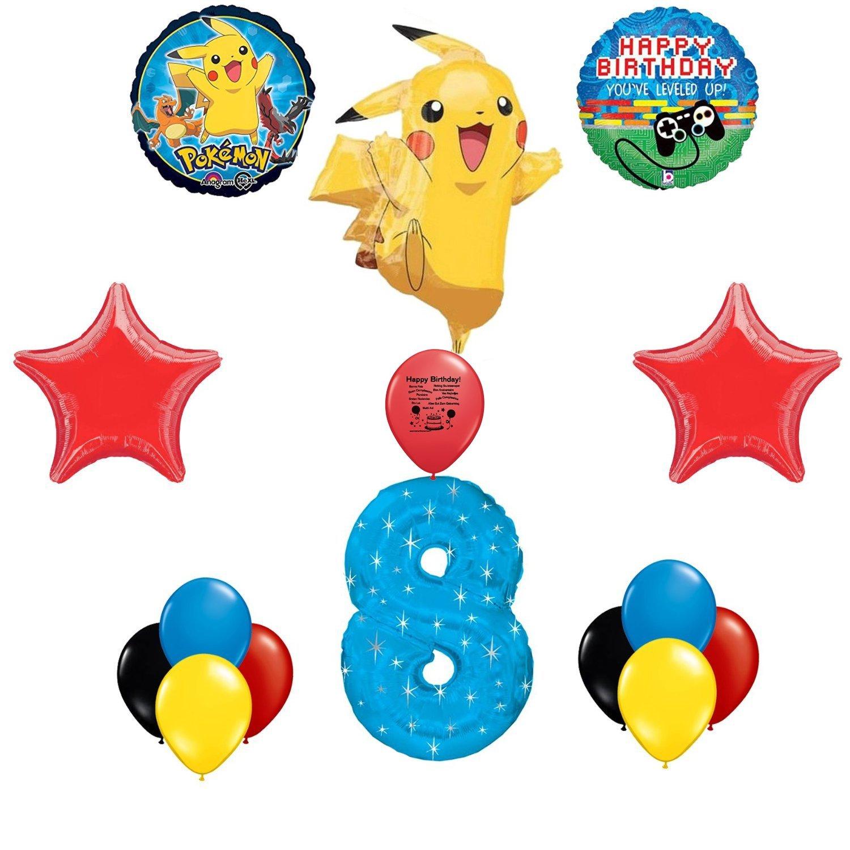 Pokemon Go Level Up Happy 8th Birthday Balloon Decorating Kit