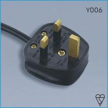 Factory price BS approved Fused UK plug power cord, UK 3 pin plug wire
