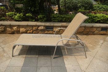 Ligstoel Tuin Aluminium : Aluminium frame textileen ligstoel strand stoel stapelen tuin