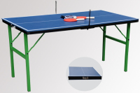 toys baby ping pong table with folding leg,handle mini table tennis table,foldable kids tennis table with 12mm tabletop blue