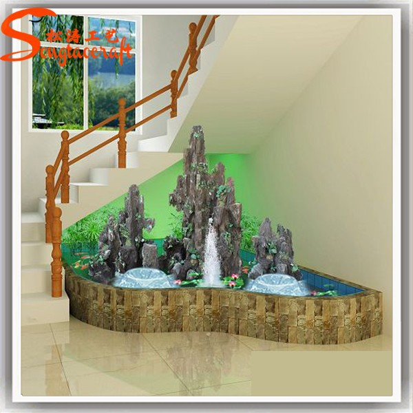 2015 china indoor pared artificial de agua cascada de for Cascadas de agua artificiales para jardin