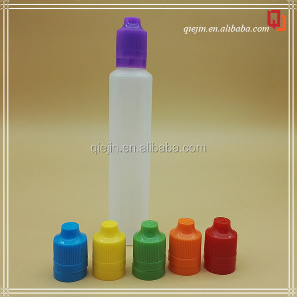 60ml 100ml 200ml hot new product pe plastic pen shape bottle for e liquid with child proof cap long thin dripper