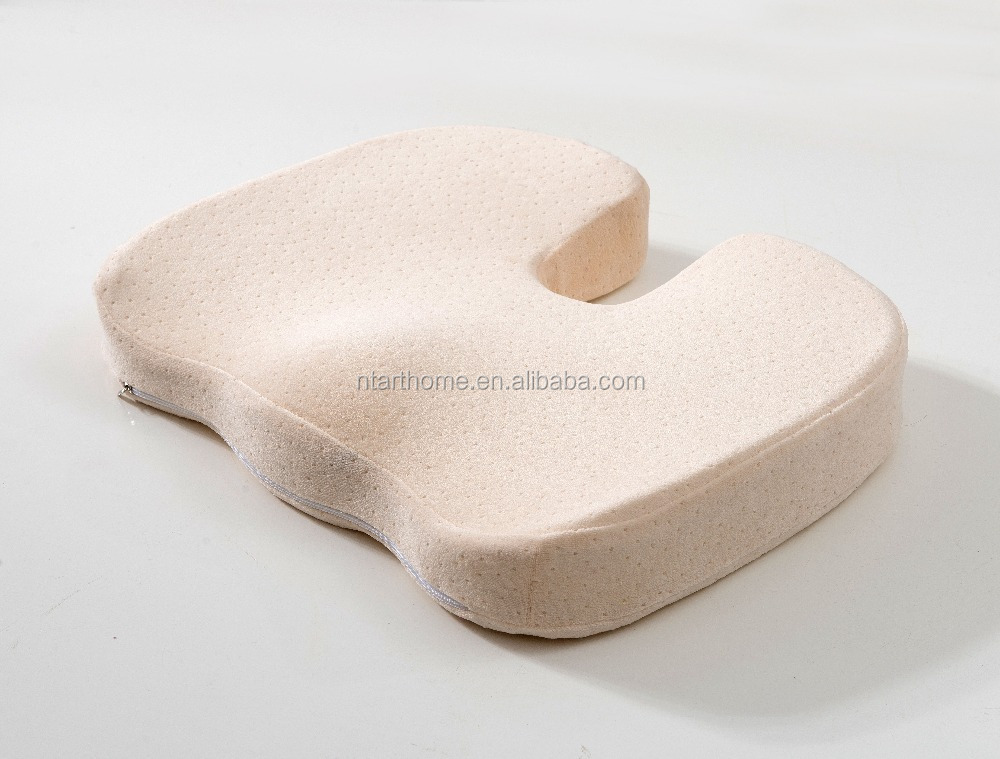 Coccyx orthopedic therapeutic contour memory foam seat cushion for pregnant women